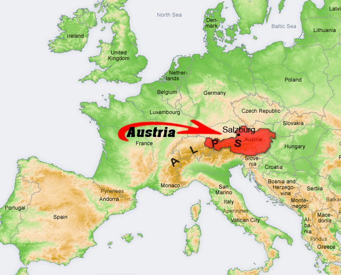 Paragliding Austria Tours XC Trips To The Alps Pinzgau - Austria location