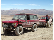 BBC Top Gear Bolivia Special - Crossing the high altitude desert at 5000m with Jeremy's Range Rover and James' Suzuki, Altiplano, The Andes, Chile
