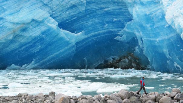 Expedition Explorers VIII, Glaciers of the Patagonian Ice Field and Istmo Ofqui - photo: The lateral of Andree glacier - the eastern arm of San Quintin glacier, Northern Patagonian Ice Field, Chile
