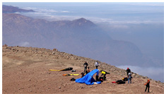 Cross country record site called Level 2 at the highest sea cliffs in the world of 6,000ft (1830m), The Atacama Desert, Iquique, Chile