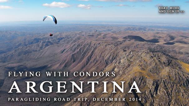Argentina - Flying with condors - Paragliding roadtrrip, December 2014