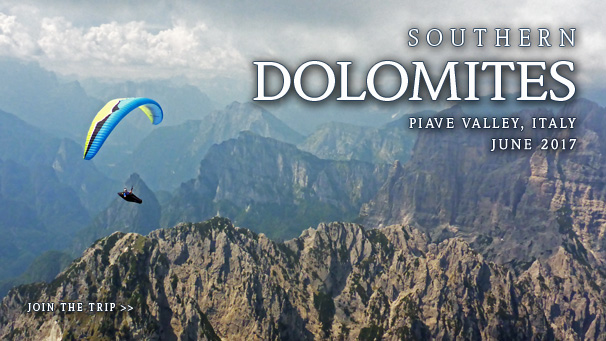 Italy - The Sunny Alps - Paragliding Trip to Southern Dolomites, Piave Valley - June 2016